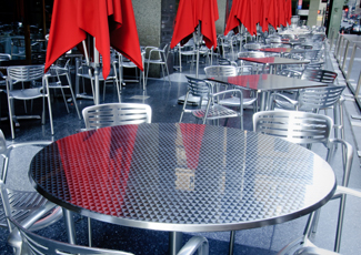 D'Iberville, MS Stainless Steel Table