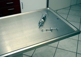 Gulf Hills, MS Stainless Steel Table